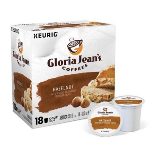 Gloria Jean's Hazelnut Coffee Keurig K-Cup pods 18ct