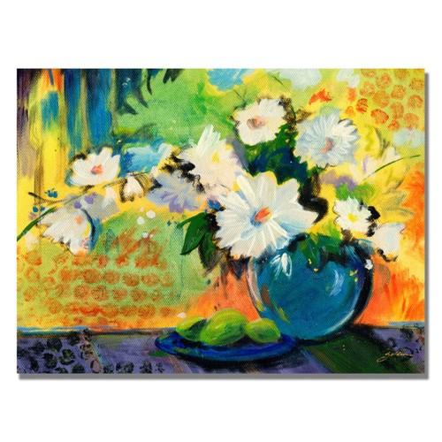 Trademark Fine Art Shelia Golden 'Yellow Wall' Canvas Art 24x32 Inches