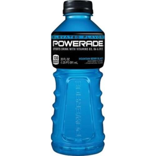 Powerade Sports Drink, 20 oz., Mountain Berry Blast, 24 Bottles/Pack