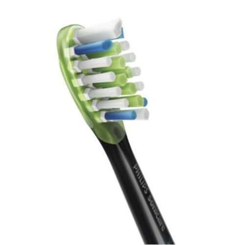 Philips Sonicare 2-Pack Premium White Replacement Brush Heads in Black