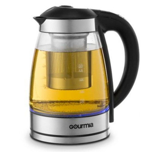 Gourmia 2 qt. Cordless Electric Clear Kettle with Infuser