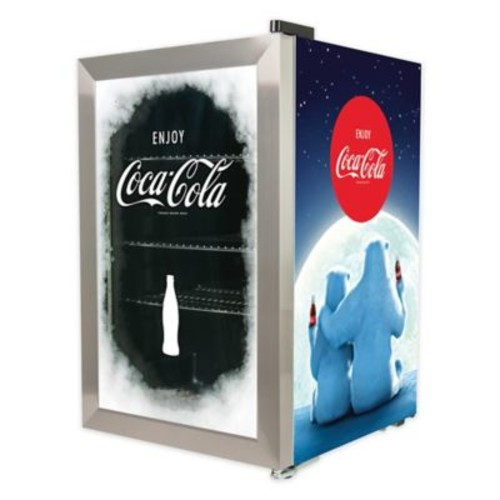 Nostalgia Electrics Coca-Cola 80 Can Beverage Cooler in Blue