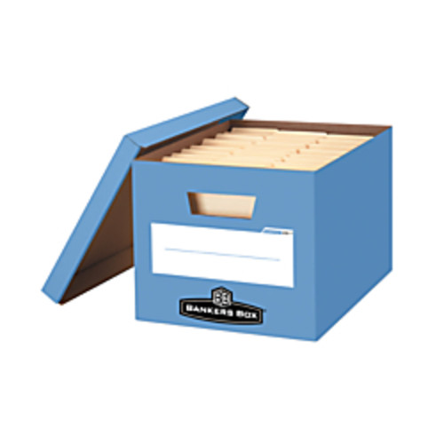 Bankers Box Stor/File 60% Recycled Storage Boxes, String & Button, 24