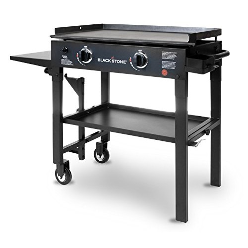 Blackstone 28 inch Outdoor Flat Top Gas Grill Griddle Station - 2-burner - Propane Fueled - Restaurant Grade - Professional Quality [28 inch - 2 Burner, 28