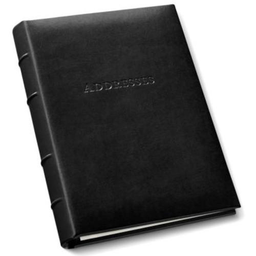 Black Bonded Leather Address Book 9