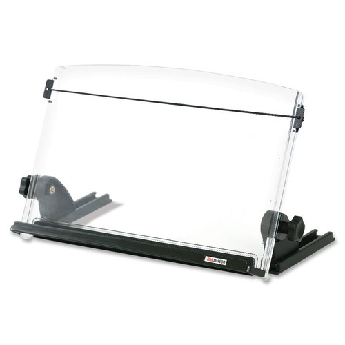 3M Adjustable Document Copy Holder, In-line with Monitor Minimizing Head and Neck Movement, 150 Sheet Capacity Holds Sheets to Books, Elastic Line Guide Keeps Pages Open, 14