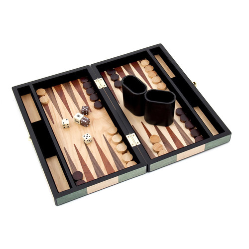 Backgammon Set with Birch and Olive Wood