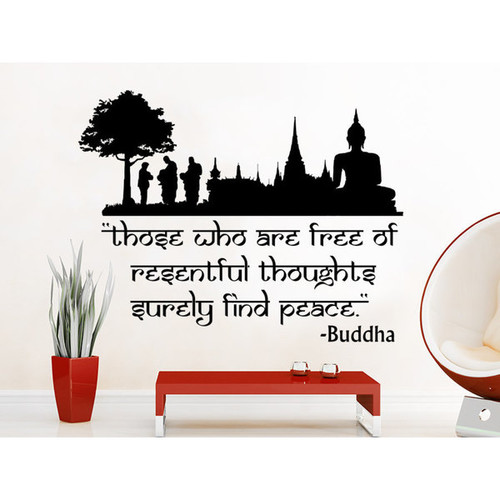 Quote Lotus Flower Yoga Buddha Those Who Are Free Of Resentful Thoughts Surely Find Peace Wall Art S