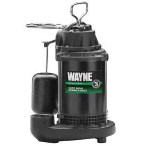 Wayne 1/2 HP Cast Iron Sump Pump with Vertical Float Switch