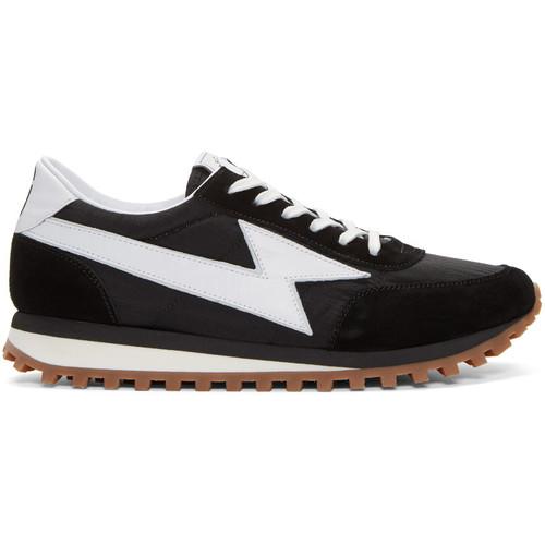 Black Runner Jogger Sneakers