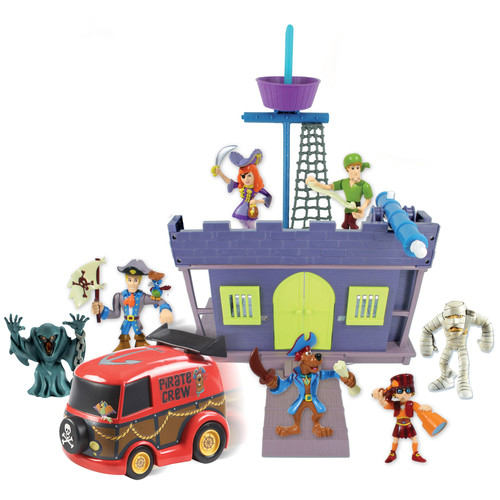 Scooby-Doo Scooby Pirate Fort and Action Figure, 5 Pack