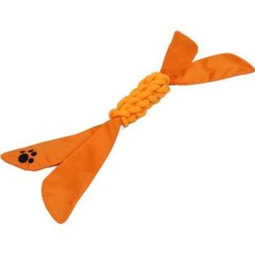 Pet Life Extreme Twist' Squeak Pet Rope Toy, Orange, One Size