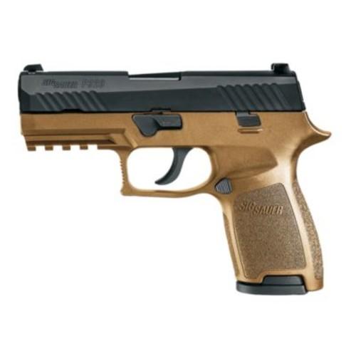 SIG Sauer P320 Pistols [Caliber : 9mm Luger; Finish : Black Nitron; Model : P320 Nitron Compact, 320C-9-BSS; Grip : Black Polymer; Capacity : 15+1]