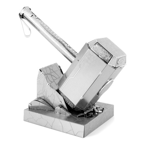 Fascinations Metal Earth 3D Laser Cut Model Kit - Marvel Avengers Mjolnir Thor's Hammer