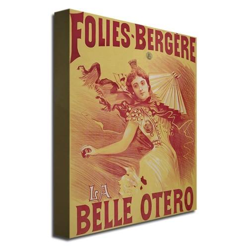 Trademark Fine Art La Belle Otero, 1894 by Bataille Canvas Wall Art, 24x32-Inch