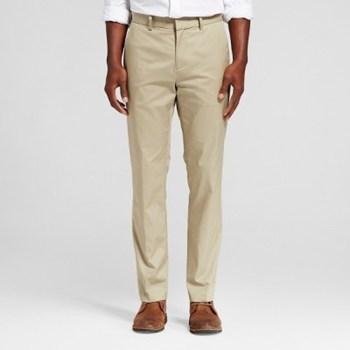 Men's Slim Fit Suit Pant Khaki - Merona