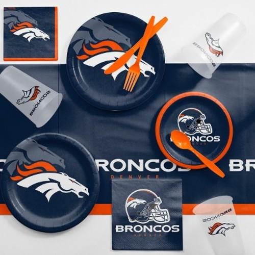 NFL Denver Broncos Game Day Party Supplies Kit