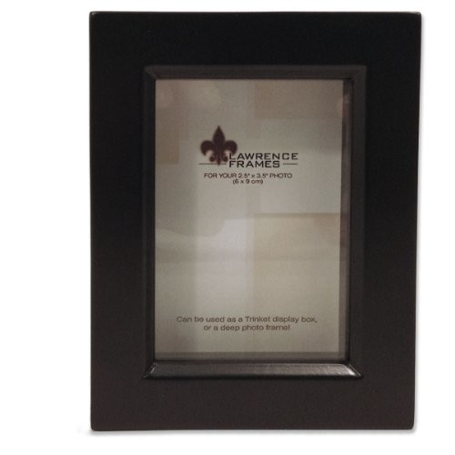 Treasure Shadow Box Picture Frame - Finish: Black, Size: 2.5