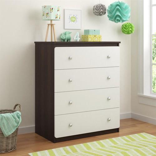 Dorel Willow Lake Coffee House Plank/White 4 Drawer Dresser
