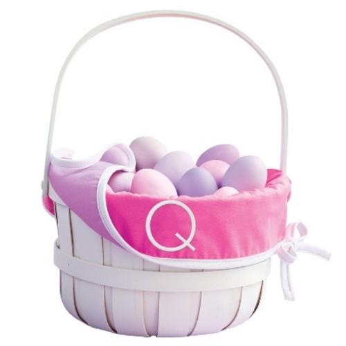 Monogram Easter Basket Liner Warm Colors - Spritz