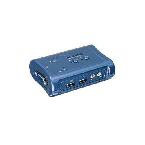 TRENDnet 2-Port USB KVM Switch and Cable Kit with Audio, TK-209K [2 Port with Audio, VGA USB]