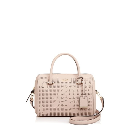 KATE SPADE NEW YORK Cameron Street Perforated Lanes Large Leather Satchel