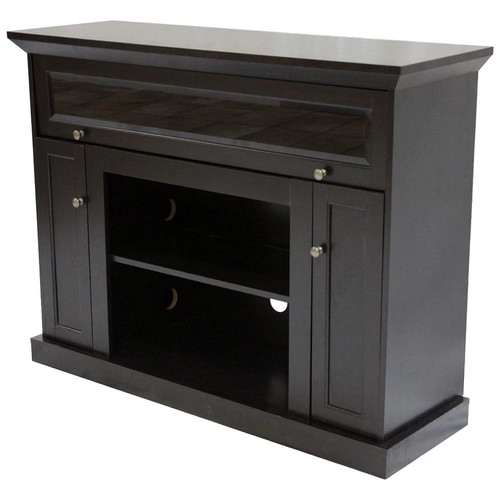 Home Source Industries TV12355 Taylor Hardwood TV Stand with Shelves and Cabinets for Components, Espresso Finish [Espresso, 46]