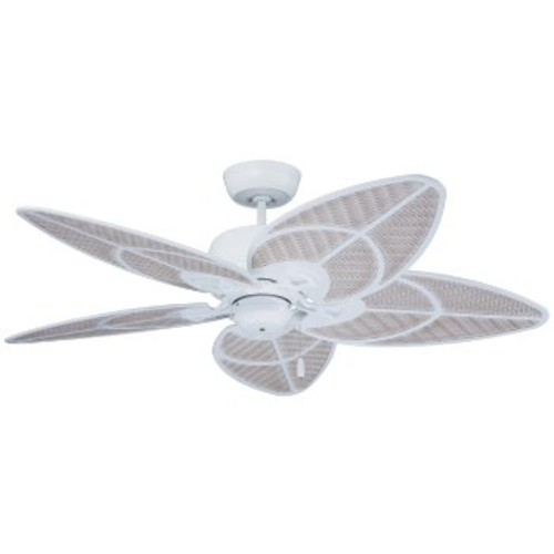 Batalie Breeze Ceiling Fan [Fan Body and Blade Finish : Satin White with Satin White Highlight Wicker]