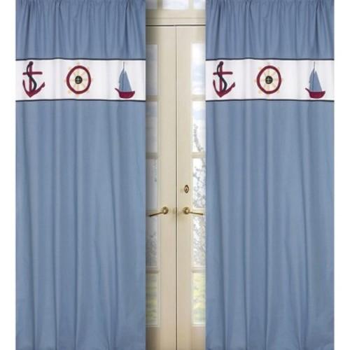 Sweet Jojo Designs Come Sail Away Window Panels