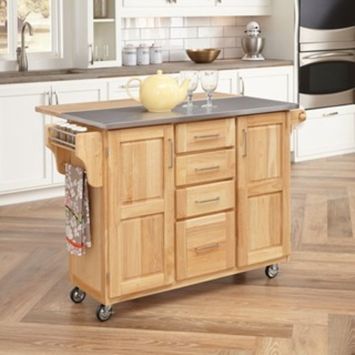 Create-a-Cart Natural Granite Top Cart by Home Styles