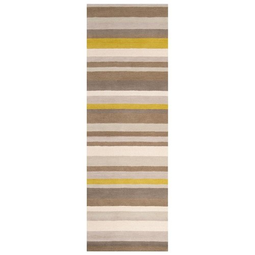 angelo:HOME Loomed Brown Madison Square Wool Rug (2'6 x 8')