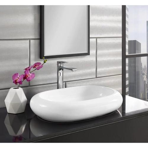 Swiss Madison Plaisir Wide Round Ceramic Bathroom Vessel Sink