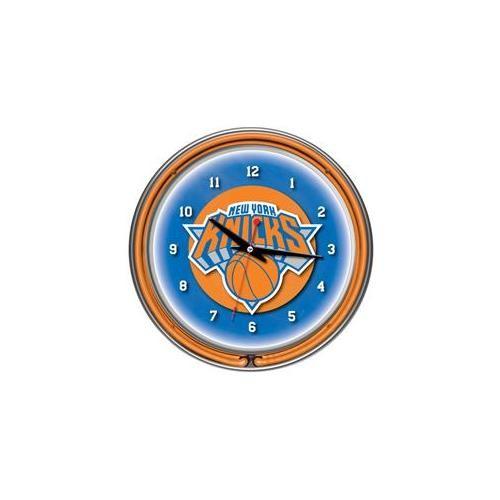 York Knicks NBA Chrome Double Ring Neon Clock