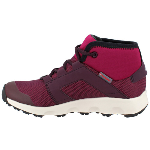 ADIDAS Womens Terrex Voyager CW CP Mid-Cut Hiking Shoes, Mystery Ruby/Dark Burgundy/Black