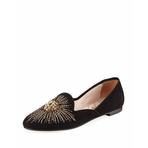 Sunlight Embroidered Suede Slipper