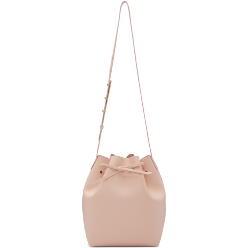 Pink Leather Bucket Bag