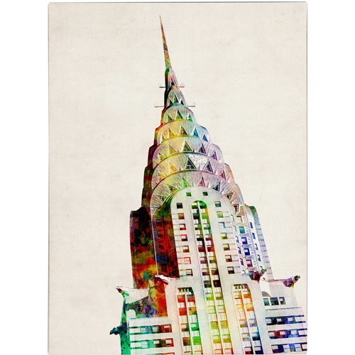 Chrysler Building by Michael Tompsett, 24 by 32-Inch Canvas Wall Art [24 by 32-Inch]
