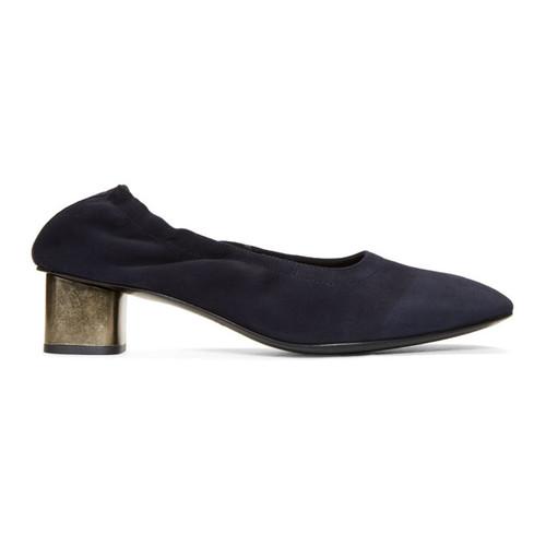 Navy Pixie Heels