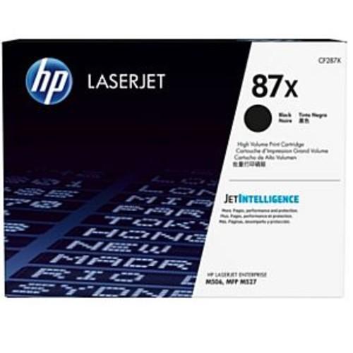 HP 87X High Yield LaserJet Toner Cartridge - Black, Original, Designed for LaserJet Enterprise Flow MFP M527; LaserJet Managed MFP M527; LaserJet Pro M501 - CF287X