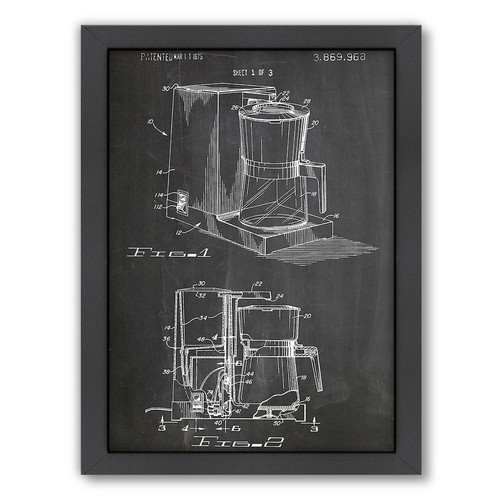 Americanflat ''Coffee Maker 1975'' Framed Wall Art