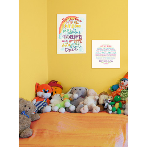 Somewhere Over the Rainbow' Stretched Canvas Wall Art