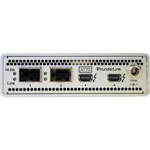 2102-D01 ThunderLink NS 2-Port 20Gb Thunderbolt 2 to 2-Port 10Gb Ethernet, LC SFP+ SR Optical Interface (US)