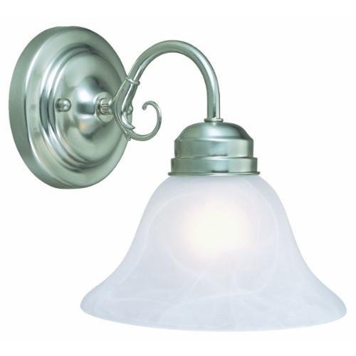 Design House 511618 Millbridge 1 Light Wall Light, Satin Nickel [Satin Nickel, 1-Light, Wall Light]