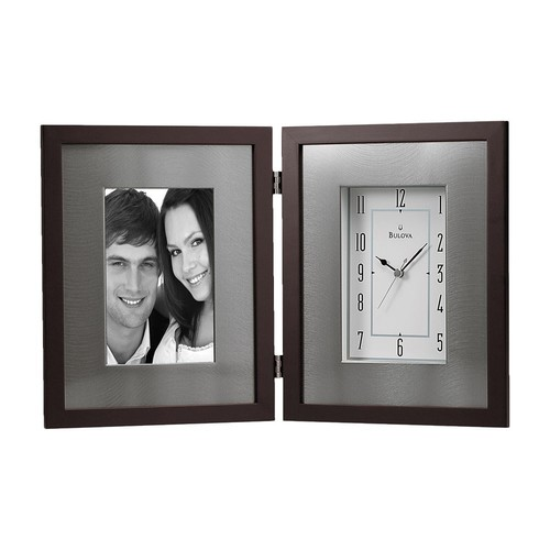 Bulova Winfield Desktop Clock with Frame