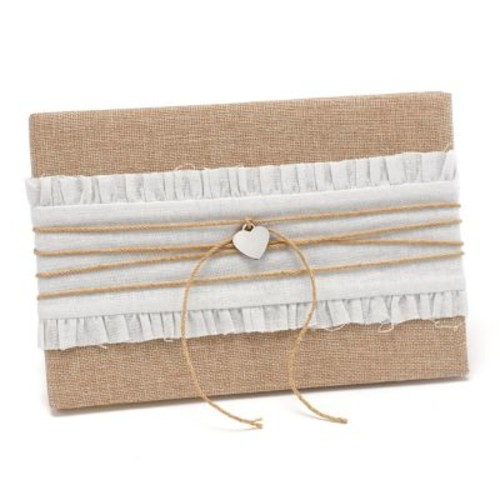 HBH Rustic Romance Guest Book, Natural and White