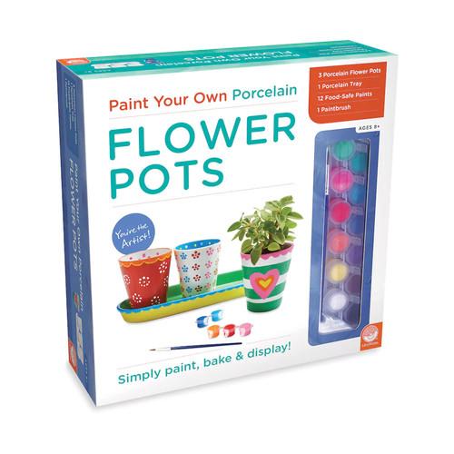 MindWare Paint Your Own Porcelain Flower Pots Set