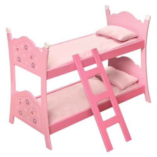 Blossoms & Butterflies Doll Bunk Beds with Ladder