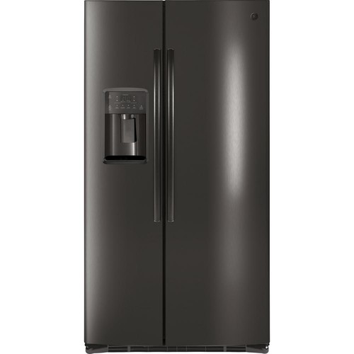 GE 25.4 cu. ft. Side by Side Refrigerator in Black Stainless Steel
