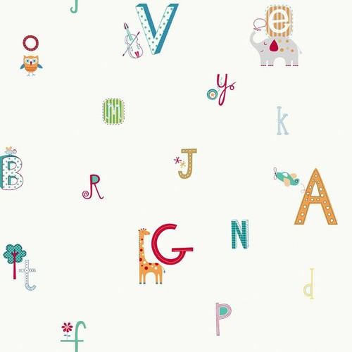 York Wallcoverings Peek-A-Boo Alphabet And Animal Wallpaper