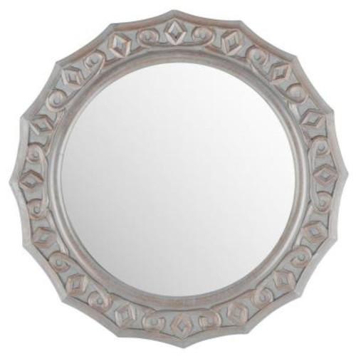 Safavieh Gossamer Lace 24 in. x 25 in. solid Wood Framed Mirror